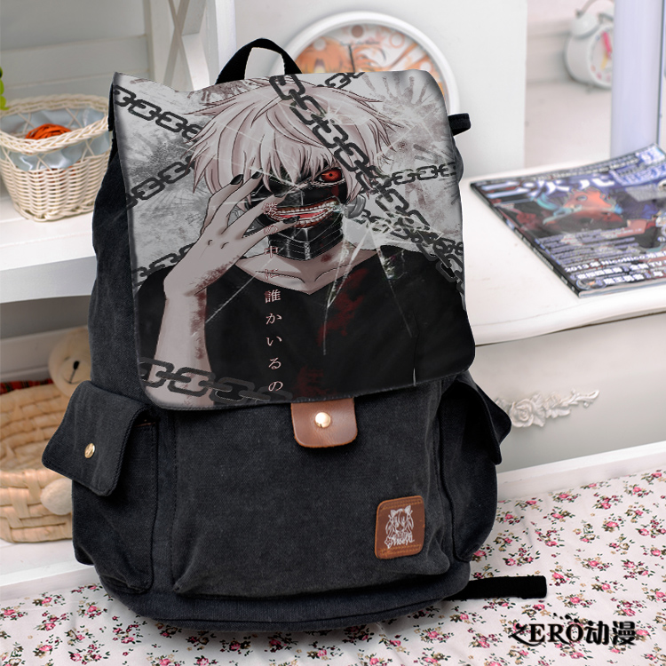 Anime tokyo ghoul Cosplay Backpack Fashion casual large capacity Bags For Men Women School Bags anime tokyo ghoul cosplay anime shoulder bag male and female middle school student travel leisure backpack page 8