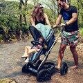 Cochecito de bebé cochecito paisaje de alta puede mentir puede sentarse carro de cuatro ruedas cochecito de bebé inflable