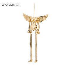 WNGMNGL 2018 New Vintage DIY Character skeleton Pendants Fashion Gold Sliver Black Color Necklace Pendant Jewelry Accessories
