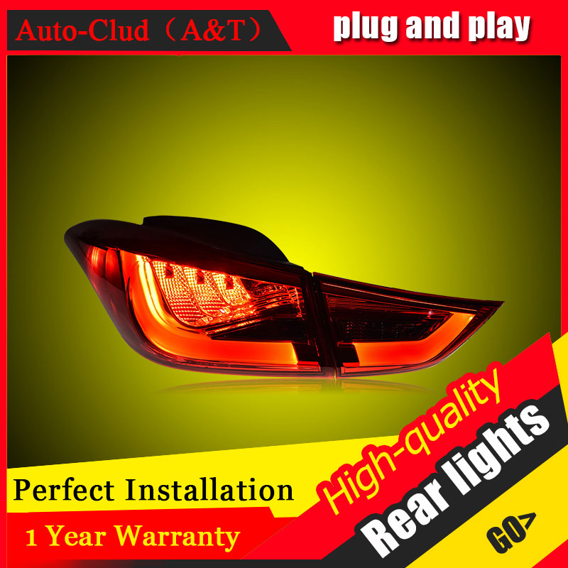 Car Styling for Hyundai Elantra Taillights 2012-2016 for Elantra LED Tail Lamp Rear Lamp DRL+Brake+Park+Signal led lights free shipping led tail lamps assy bm style light bar rear lamps tail lights fit for hyundai elantra 2012 2015