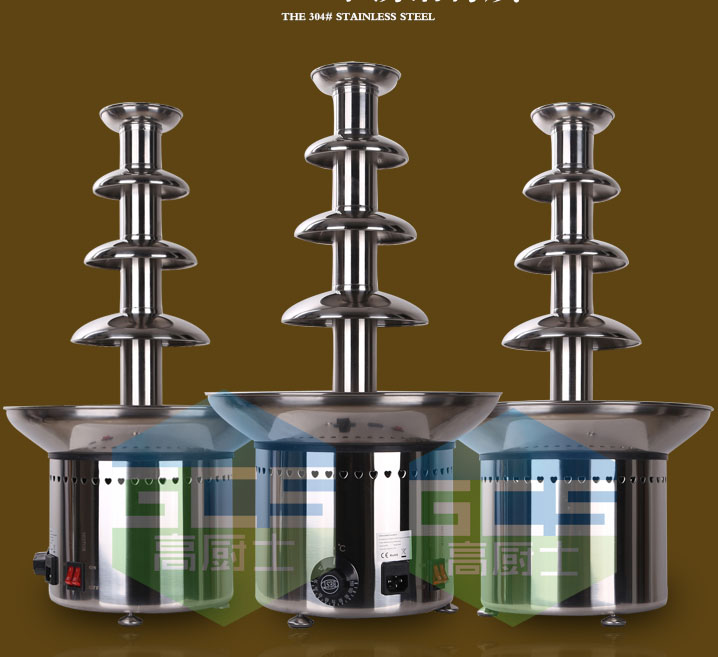 Free shipping Commercial use 4 Tiers Chocolate fountain Machine Wedding fountain machine freeshipping homehold china factory supply mini 3 tiers chocolate fountain machine with high quality and low prices