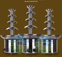 цены Free shipping Commercial use 4 Tiers Chocolate fountain Machine Wedding fountain machine