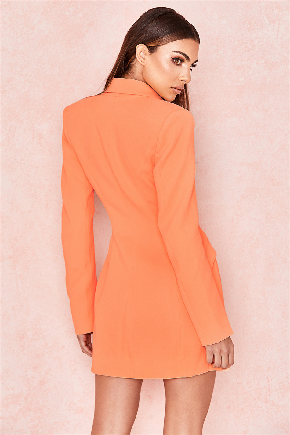CIEMIILI Straight Dress Button 3