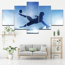 5 panel modulaire kunst schilderij springen footbal mannen foto poster canvas kunst aan de muur schilderij kunst aan de muur foto's voor de woonkamer