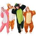 100% Buena Calidad Pikachu Panda Adultos Pijamas pijamas Anime Cosplay Disfraces Animal Lindo de la Puntada de Ahri Footed Onesies ropa de Dormir