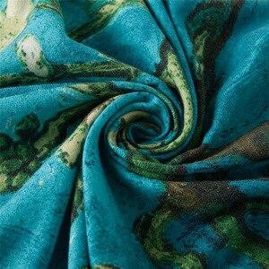 Image 4 - [POBING] di Marca di Lusso Morbido Cashmere Lana Sciarpa Quadrata per Le Donne Spagna LifeTree Fazzoletto Da Collo Foulard Scialli di Inverno Wrap Pashmina
