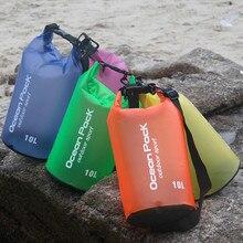Высокое качество ПВХ Водонепроницаемый сухой мешок Открытый Спорт Плавание рафтинг Каякинг парусный спорт сумка для хранения Портативный прочный 2L/5L/10L/20L