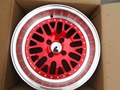 Four Pieces 15 inch et 0 Red Machined Lip wheel rims W310