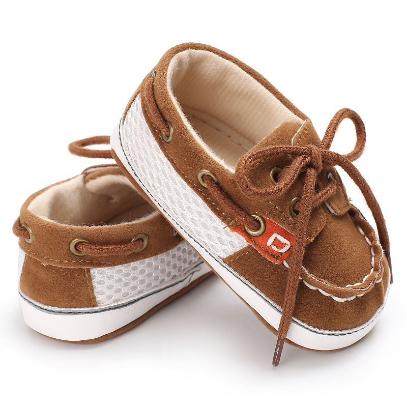 Baby Cotton Canvas Shoes Infant Sneaker Baby Boy Toddler First Walkers Stitching Straps Soft Bottom Non-slip Casual Shoes
