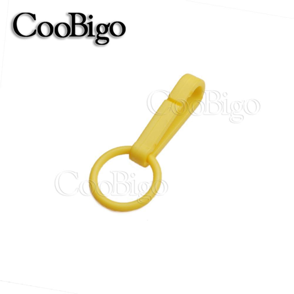 100 шт Упаковка Пластиковые Красочные защелки крюк перчатки пряжки-Крючки с уплотнительным кольцом звено цепи вешалка сумка Запчасти Аксессуары# FLC078(Mix-s - Цвет: Yellow