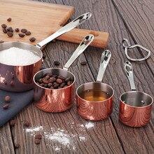 Маленький медный горшок для приготовления пищи, ручной горшок, песок из нержавеющей стали, медное покрытие, розовое золото, маленький горшок для сока, горшок для молока, железная тарелка cui