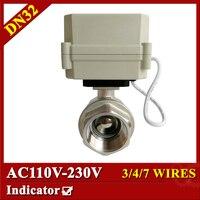 BSP NPT 1 1 4 Full Port Stainless Steel Valve AC110V 230V Control Electric Ball Valve