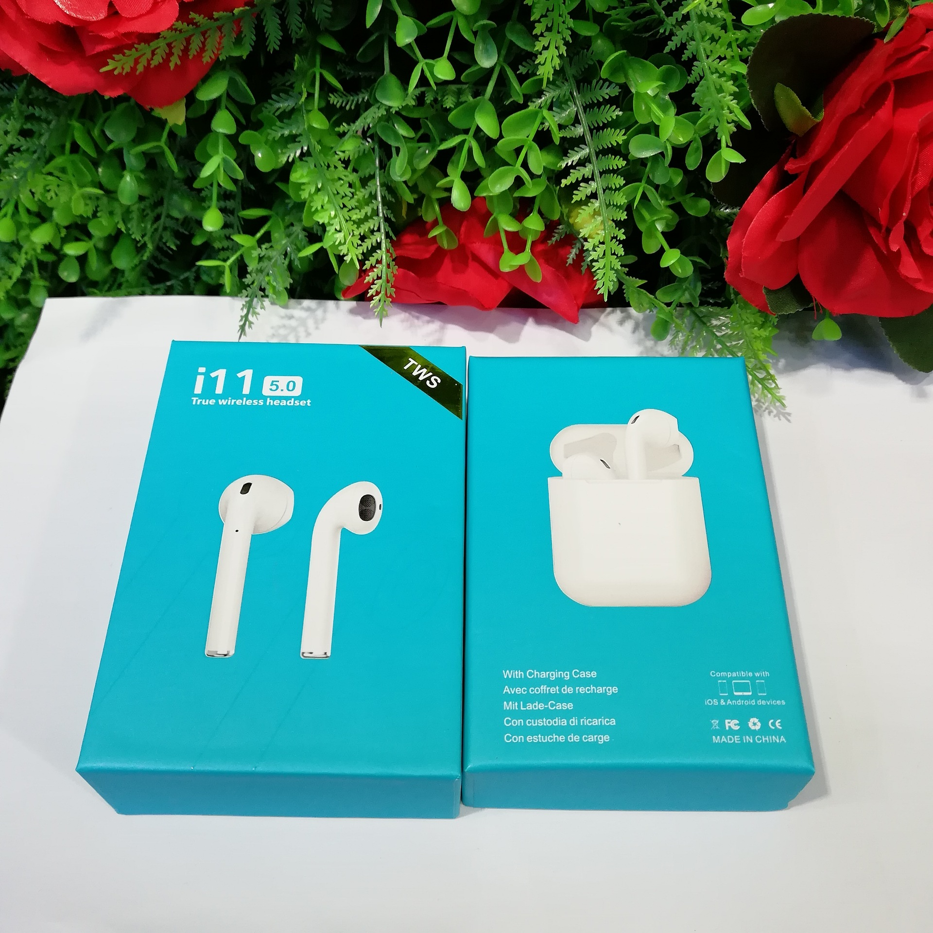i11 TWS Bluetooth 5 0 Touch Wireless Earphones Earpieces mini Earbuds i7s With Mic For iPhone X 7 8 Samsung S6 S8 Xiaomi Huawei in Phone Earphones Headphones from Consumer Electronics