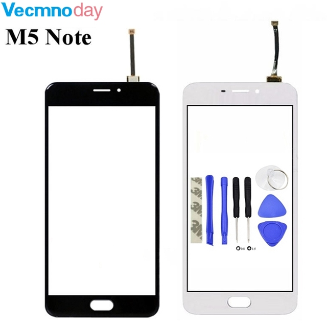 Vecmnoday 5.5''  For Meizu M5 Note Touch Screen Glass Guarantee Original Digitizer Glass Panel Touch Replacement