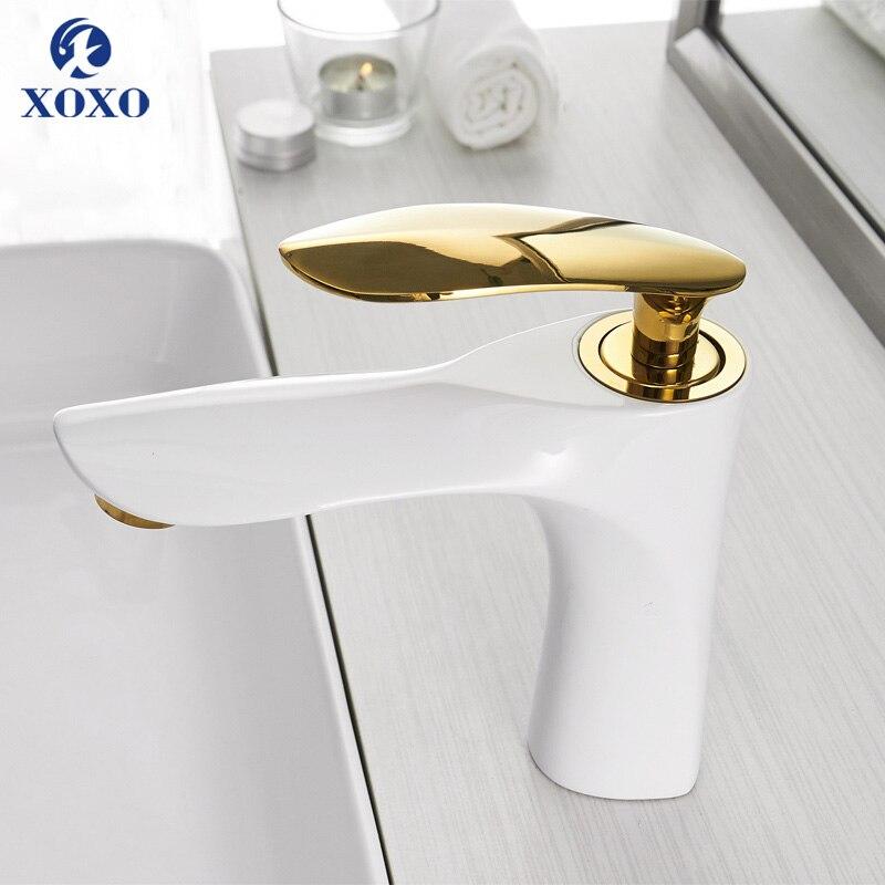 XOXO смеситель для раковины кран для горячей и холодной ванной комнаты Смеситель Для Воды Кран хромированный с одной ручкой смеситель для рак...