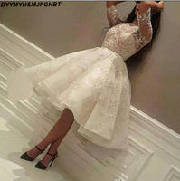 New Lace Half Sleeves Evening Dress Cheap Arabic Fashion Designer Formal Evening Party Gown Custom Made Plus Size
