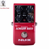 NUX SCREAM BASS Free Shipping BASS OVERDRIVE Analog Overdrive Bass Effects Pedal True Bypass with free pedal cable