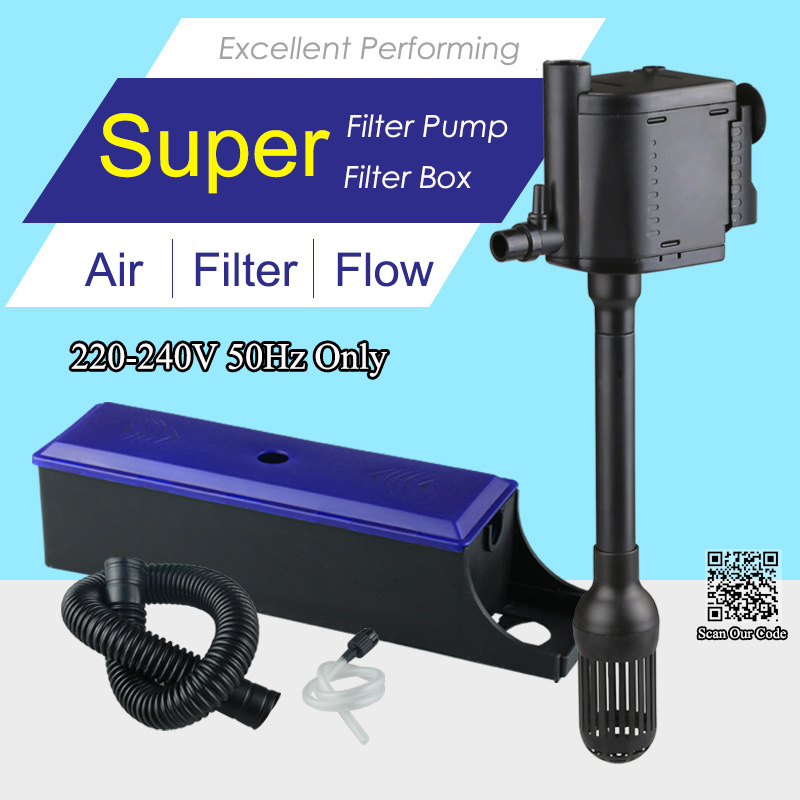 Super aquarium multifunction filter 3 in 1 filter box for Water pump filter box