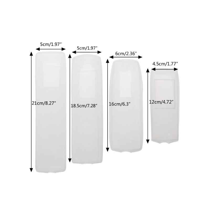 OOTDTY флуоресцентный силиконовый ТВ Кондиционер дистанционный чехол для пульта водонепроницаемый пылезащитный чехол для хранения