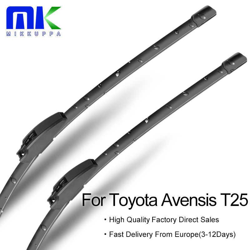 """MIKKUPPA için ön silecek Blade Toyota Avensis T25 2003 2004 2005 2006 2007 2008 çift 24 """"+ 16"""" cam sileceği oto aksesuarları"""