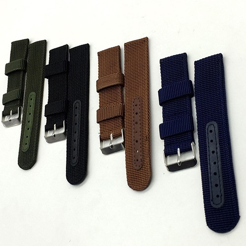 1PC Sales High Quality 18mm 20mm 22mm Leather Strap Watch band Crazy Horse Genuine Leahter Watchband With Different Colors hot sale genuine leather watchband watch strap with crocodile pattern different colors in size 18mm 20mm 22mm