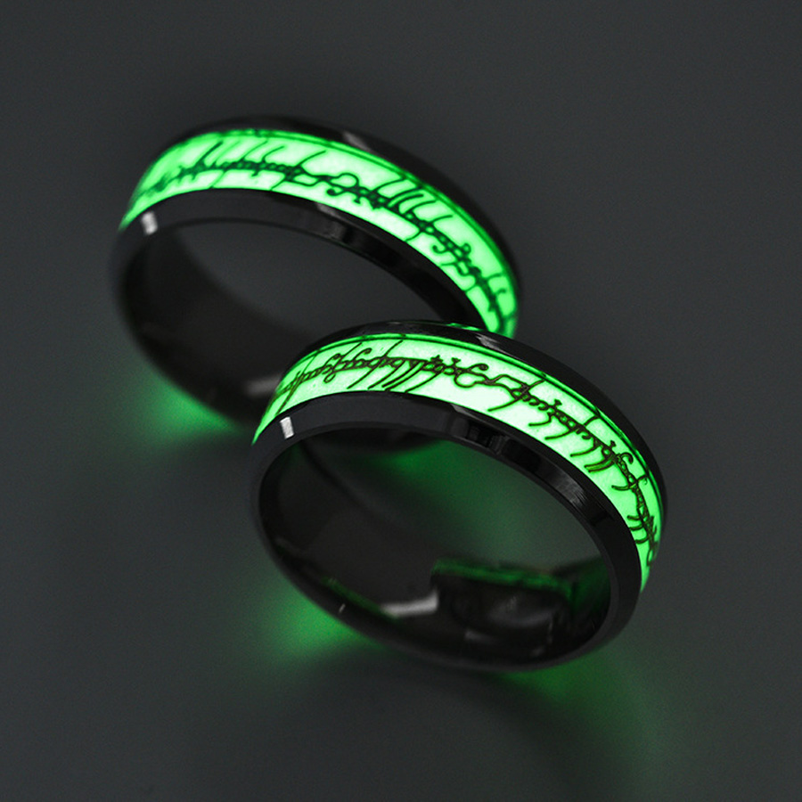 New Original Luminous Ring Glow In The Dark Concert Fluorescent Ring Green  Background The Ring Lord