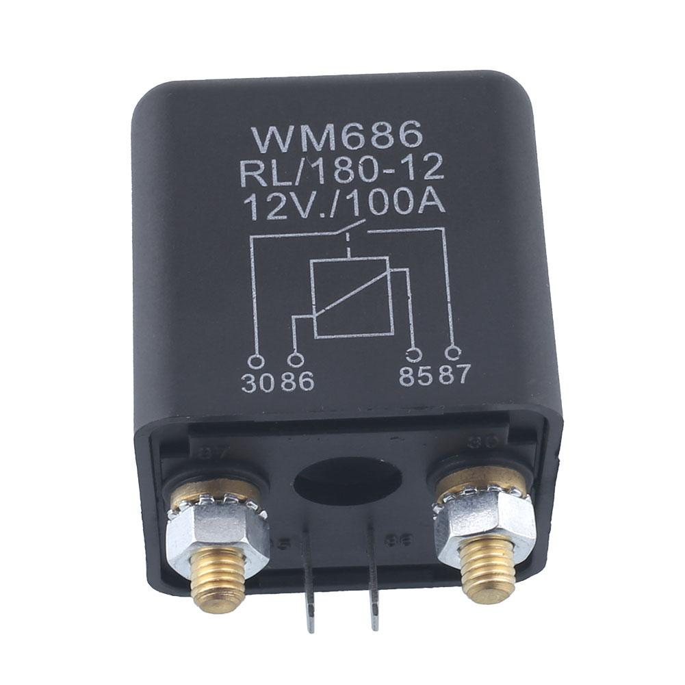 Car Dc 12v 100a Relay 4 Pin Rl180 Heavy Duty Install Style Chargeover(china  (