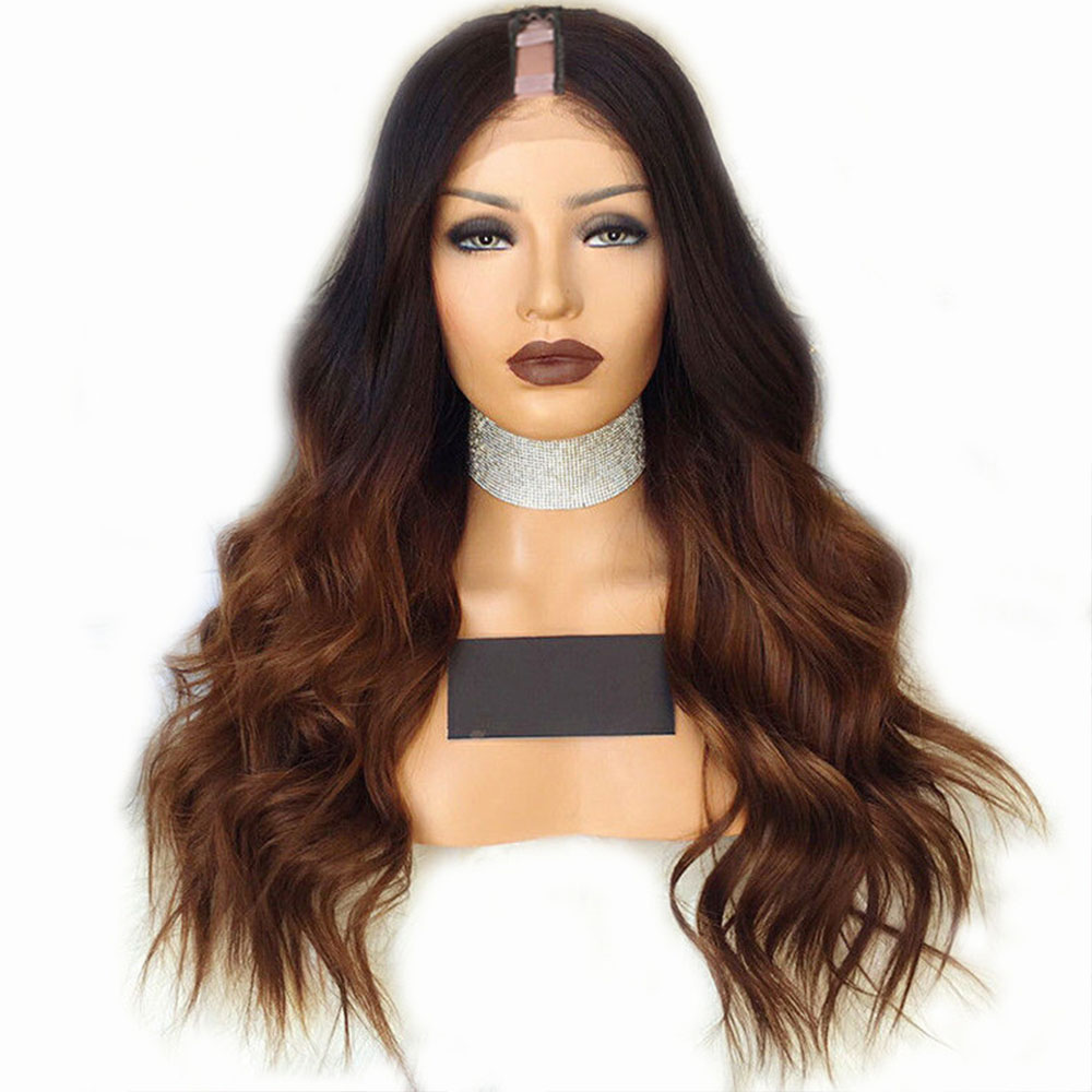 Eversilky T Color Loose Wavy Ombre Wig U Part Wig Human Hair Wigs With Combs Coarse For Women Brazilian Body Wave Remy Hair
