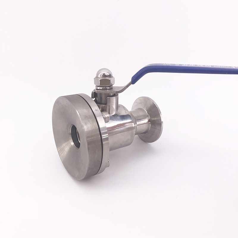 Sanitary Stainless steel 304 O D 19 25 MM bottom valve water pump grade tank bottom