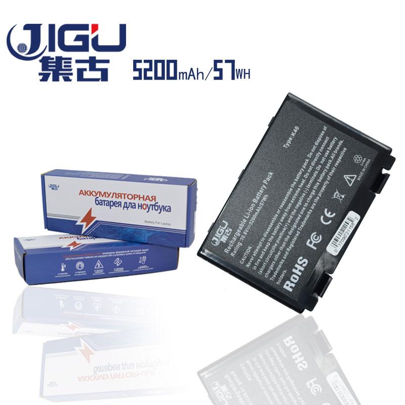 JIGU 5200mAH 6Cells Laptop Battery For Asus K40ab K40in K40ij K40ad K50ij K50in K50id K50af K51ac K51ae K51ab K60ij K61ic K70ab цена и фото