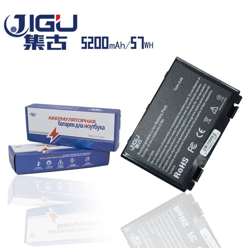 JIGU 6 Células Bateria Do Portátil Para Asus K40ab K40in K40ij K40ad K50ij K50in K50id K50af K51ac K51ae K51ab K60ij K61ic k70ab