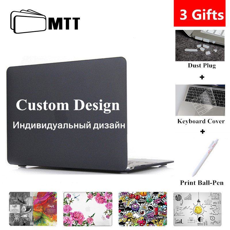 MTT Custom Design Case For Macbook Air Pro Retina 11 12 13 15 With Touch Bar Hard Cover for mac book pro 13.3 inch Laptop Sleeve