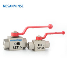 NBSANMINSE Stainless Steel High Pressure Ball Valve KHB with NPT G 2  Anti corrosion design Engineer Industry Application цены