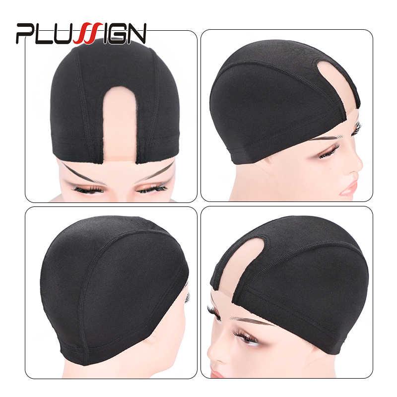 Plussign Kubbe Kapağı Saç Atkı Için Peruk Yapımı Dalga Kap U Parçası Dantel file şapka Profesyonel Peruk Yapma Araçları Dokuma Net saç fileleri