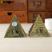 Egyptian Pyramid Model Miniature Figurines Alloy Ornaments Home Decoration Accessories Office Living Room Souvenirs