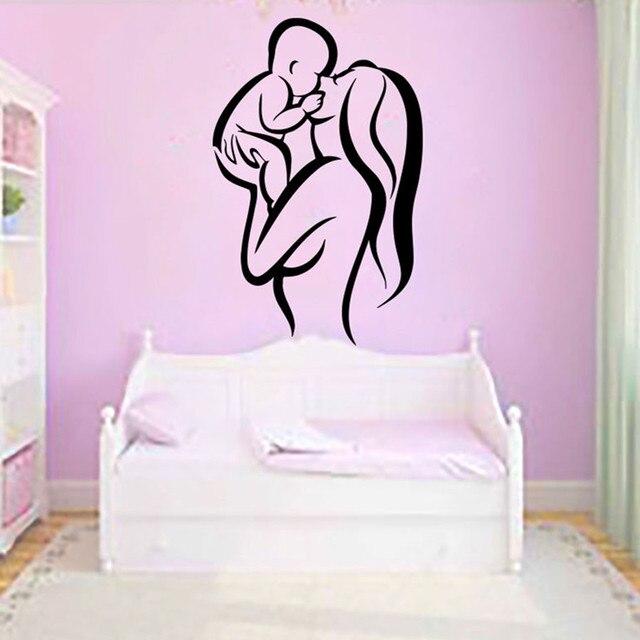 Abnehmbare Mutter Und Kind Wandtattoos Für Baby Kinderzimmer Schlafzimmer  Zimmer Wohnheim Dekor Kunst Dekoration KW