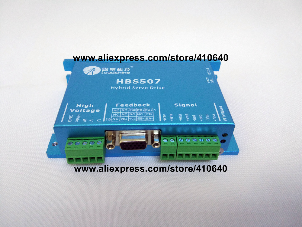 Leadshine HBS507 updated from old model HBS57 Closed-Loop Stepper Drive with Maximum 20-50 VDC Input Voltage, and 8.0A Current leadshine hbs86 easy servo drive with maximum 20 80 vdc input voltage and 8 5a peak current