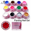 Saviland 1pcs Paint UV Gel 3D Painting Polish Permanen Nail Art Drawn Glitter 12 Color Acrylic Nail Art Bio Gel Polish