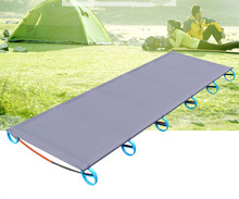 Portable Outdoor Folding Bed Super Strong Heavy Duty Cot Foldable Bed Camping Military Hiking Medical 180*58cm Lightweight Table