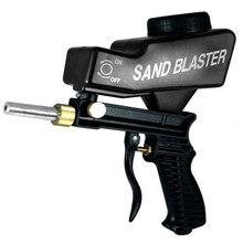 MAHAQI гравитационная подача портативный пневматический абразивный Пескоструйный пистолет с запасным наконечником ручной Пескоструйный пистолет черный цвет H