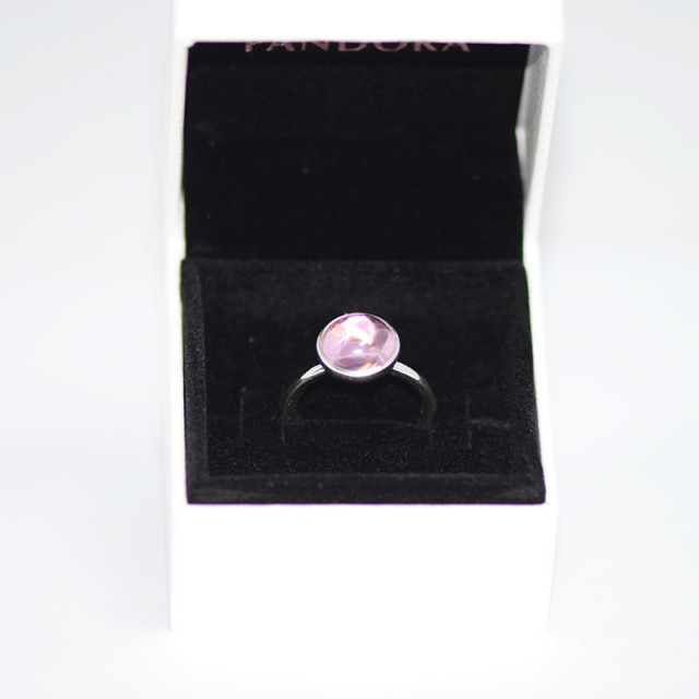 Silver Rings Women Ring Silver Shimmering Bouquet With Pink Enamel and Clear Cz Ring Newest  Authentic Pure  Sterling