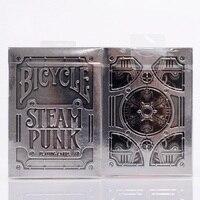 1pcs Bicycle Silver Steampunk Deck THEORY11 Magic Cards Playing Card Magic Props Close Up Magic Tricks
