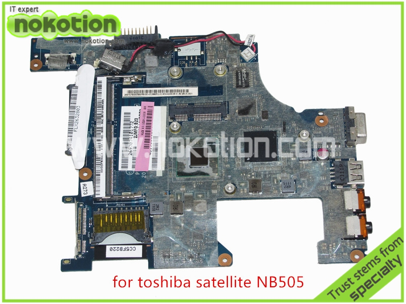 PBU00 LA-6851P REV 1.0 K000114320 For toshiba satellite NB500 NB505 Motherboard DDR3 Intel Atom N550 CPU GMA