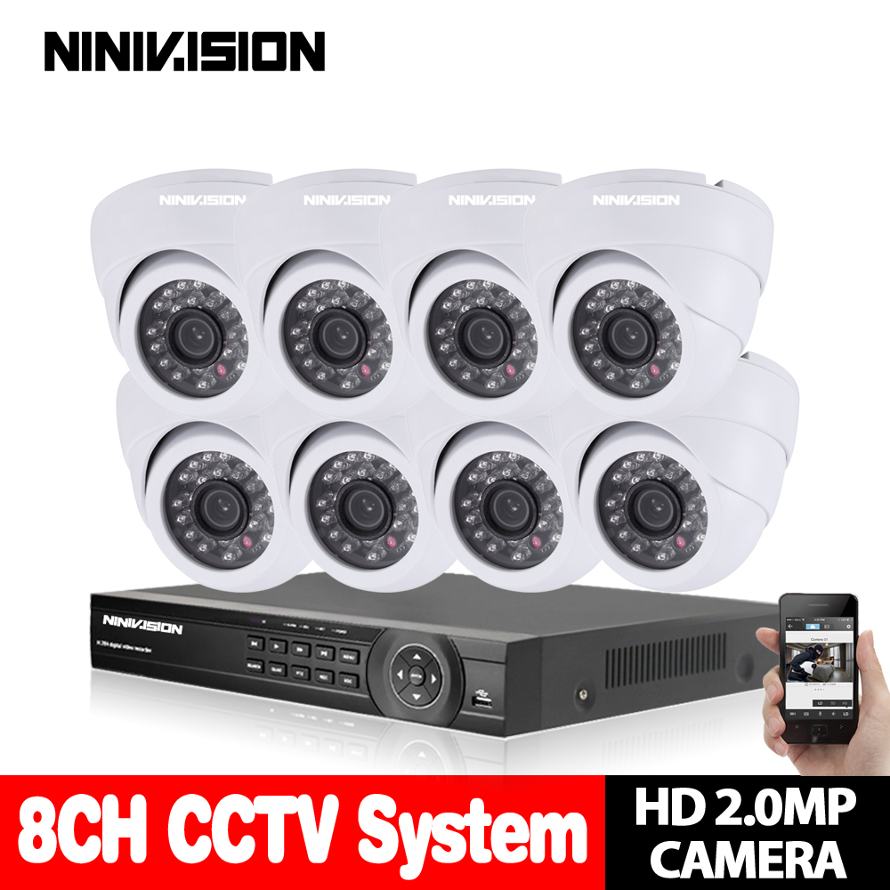 Security Camera system CCTV 8CH 960H Network DVR Kit 1200TVL Outdoor SONY CCD Sesnor Bullet waterproof mobile phone viewing