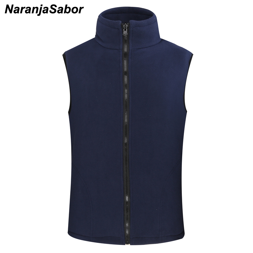 NaranjaSabor Men's Women's Softshell Fleece Vest Autumn Warm Waistcoat Casual Sleeveless Jackets Male Coats Men Brand Clothing