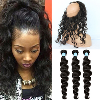 360 frontal find the best affordable 360 frontal best 360 lace frontal closure with bundles 7a lace frontal weave loose wave curly peruvian virgin hair pmusecretfo Choice Image