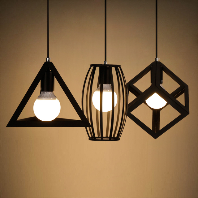 vintage style loft lampe d 39 clairage industriel cuisine lustre plafond r tro pendentif lampe. Black Bedroom Furniture Sets. Home Design Ideas