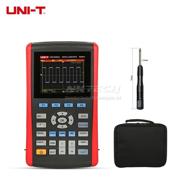 Big Sale UNI-T UTD1050CL UTD1025CL Handheld Digital Oscilloscope Scopemeter Multimeter Scope Meter TFT Fully Auto Scale 50MHz DC AC Ohm F