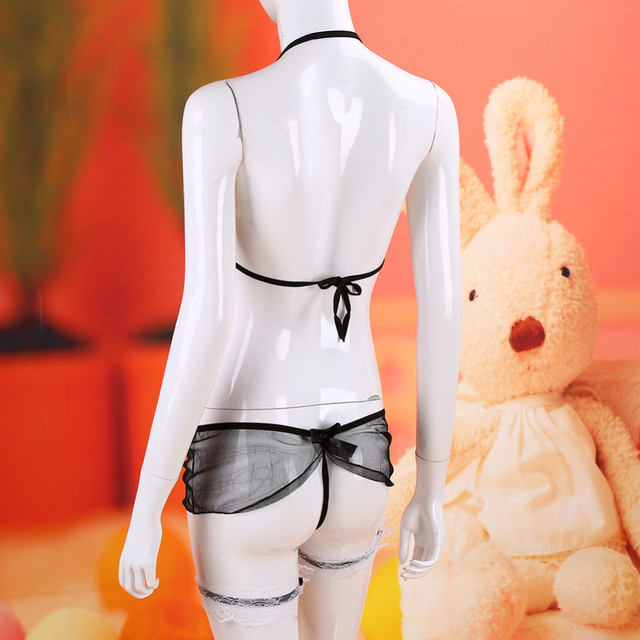 sexy lace lingerie hot cosplay maid fancy uniform erotic lingerie sexy costume underwear transparent lenceria sexy babydoll