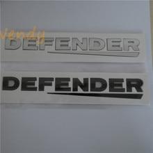 Voiture 3D Lettre Arrière Emblème Insigne Pour Defender Logo ABS Brillant Noir Argent Carénage Arrière Corps Autocollant Styling Plaque Signalétique